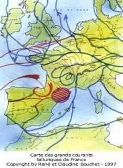 carte lignes telluriques france Les courants telluriques | Ateliers habitat vivant